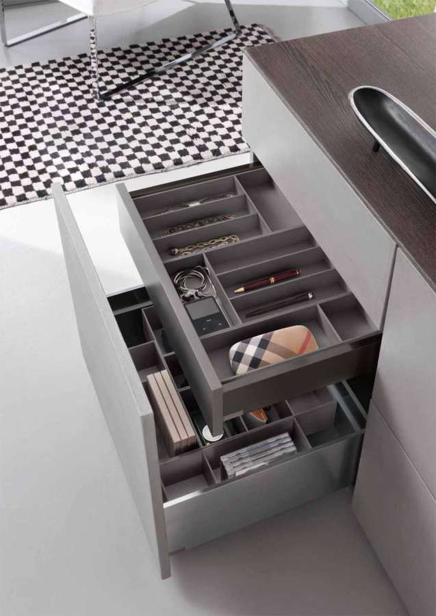 Salice Split container system: optimizing the interior space of the drawers 2