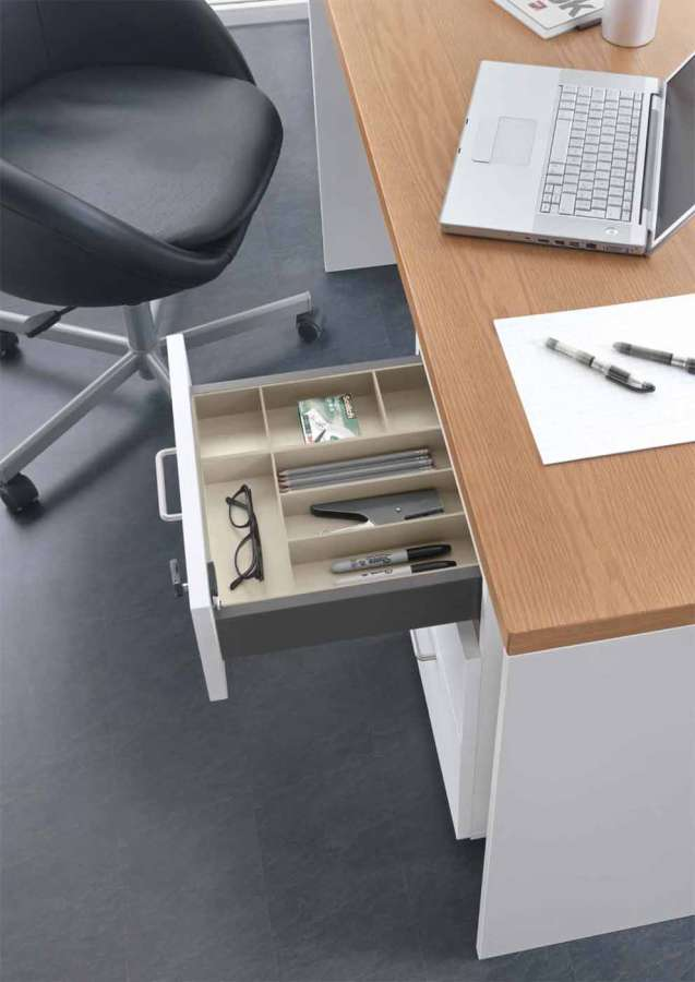 Salice Split container system: optimizing the interior space of the drawers 3