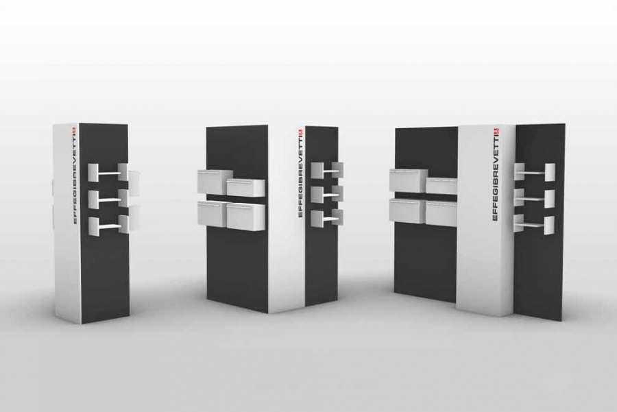 Die Ausstellung Sinergy Lab von Effegibrevetti