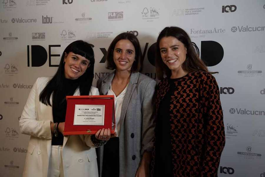 IDEASxWOOD 2020: le prix Carpanelli décerné à Benedetta Pintus, Natalia Giribaldi et Ottavia Scarabelli pour la catégorie Étudiants