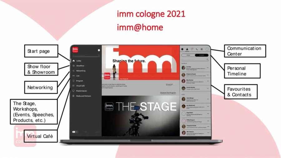 imm cologne 2021: exemple de la plate-forme numérique imm@home