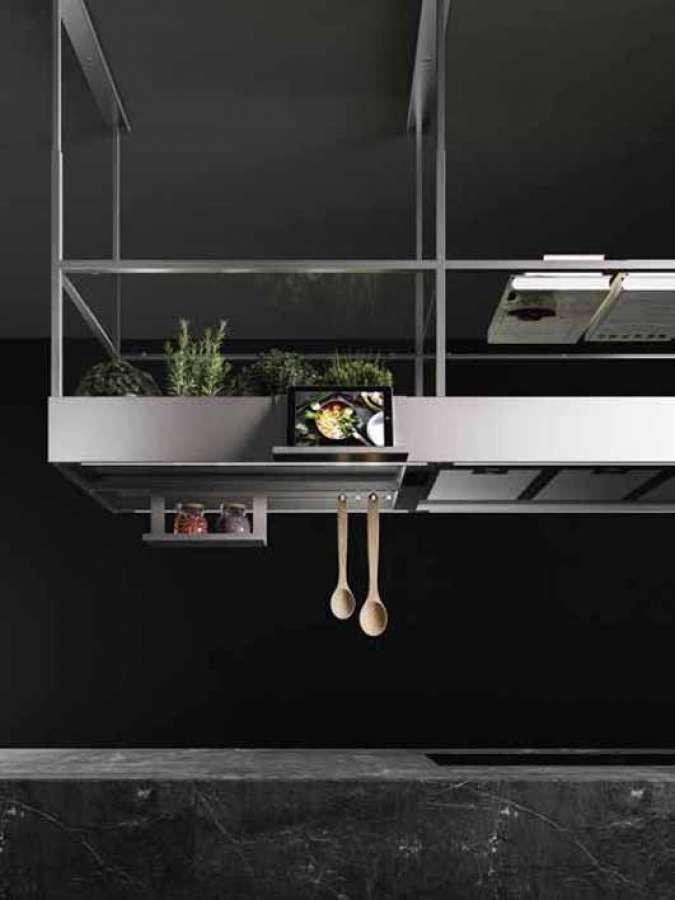 Italian Design Day 2020 - die Haube des Spazio, Entwurf Francesco Lucchese, hergestellt von Falmec