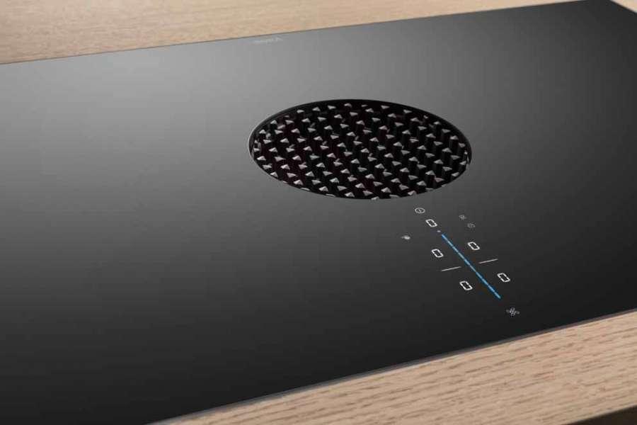 Piano cottura con sistema aspirazione integrato BORA X Pure: il pannello di controllo