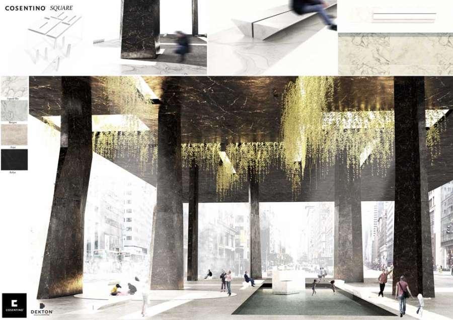 Cosentino Design Challenge 14: Cosentino Square von Luis Mínguez González