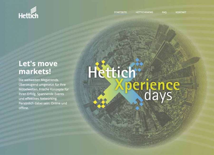 The online portal xdays.hettich.com offers registered trade members a wealth of information