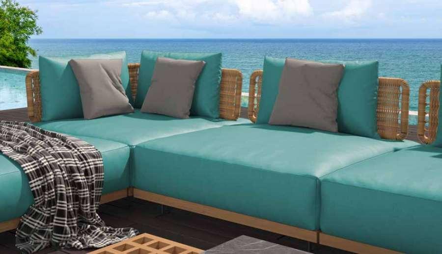 Un colore di tendenza per i tessuti outdoor della collezione Auckland di MP