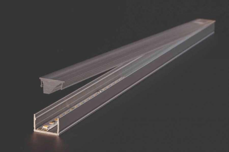 Sistema de iluminación de Linear lens de Häfele: interzum Award  2021 Best of the Best.