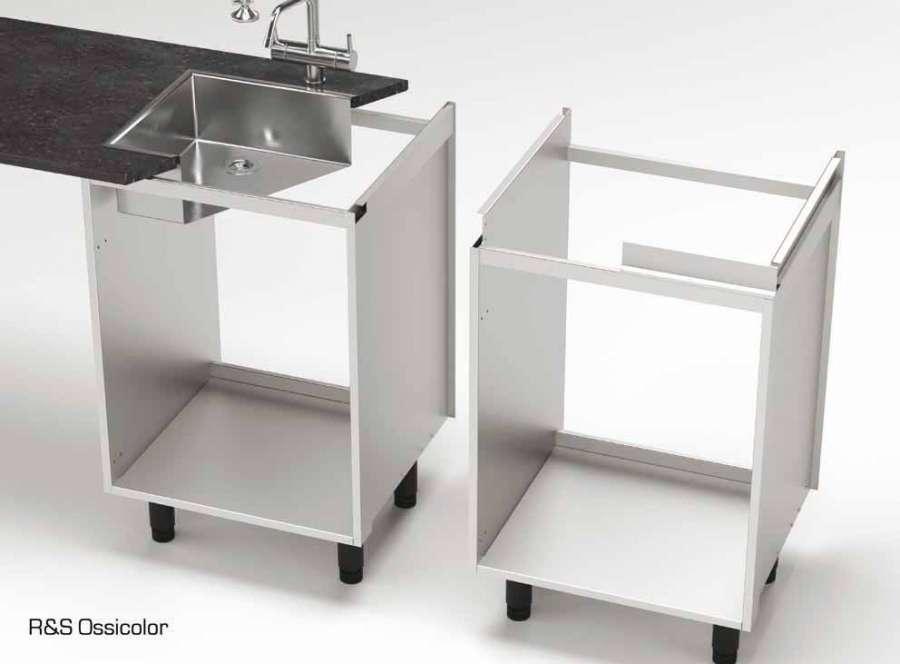 La base per cucina Alubox con scocca completamente in alluminio