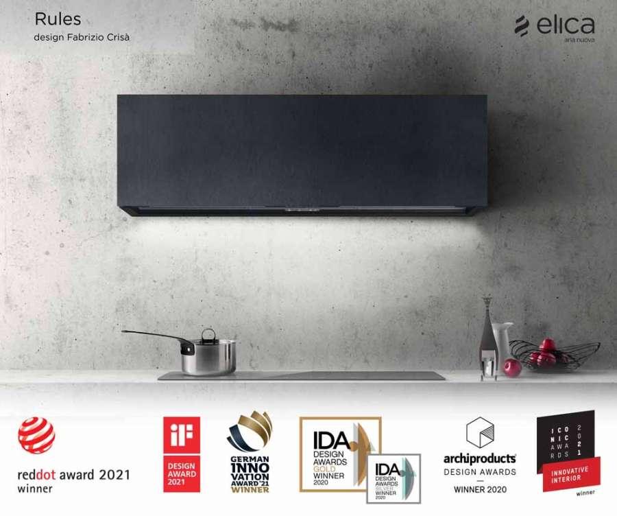 Elica, Rules hood, design Fabrizio Crisà