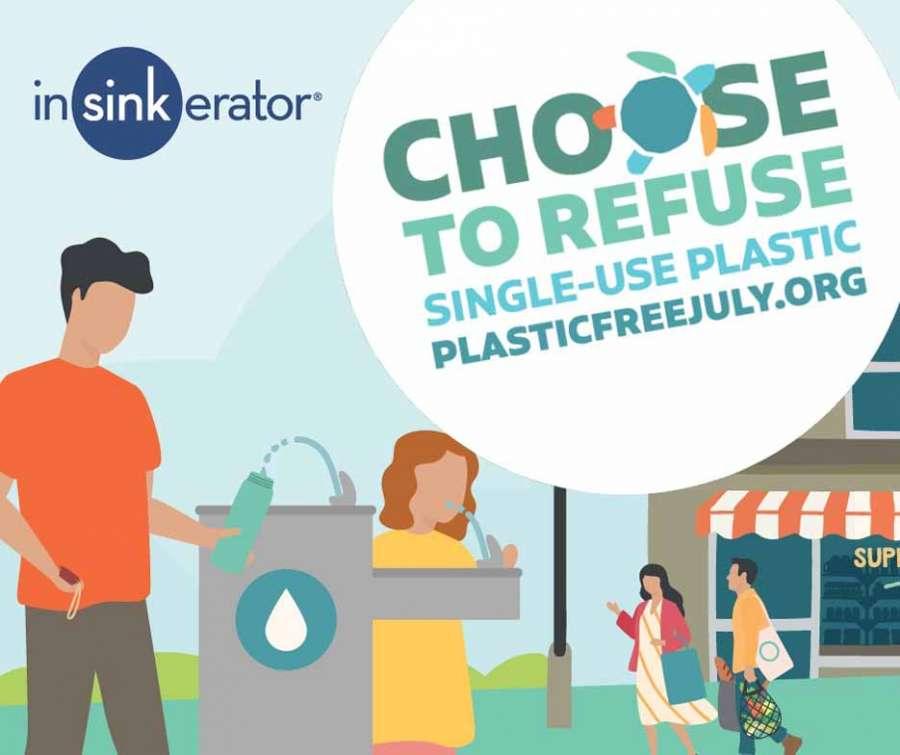 InSinkErator: post su Facebook per la campagna Plastic Free July