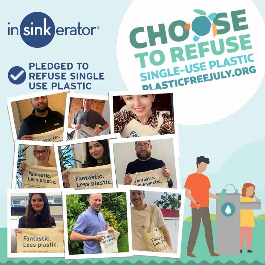 InSinkErator: post su Linkedin per la campagna Plastic Free July