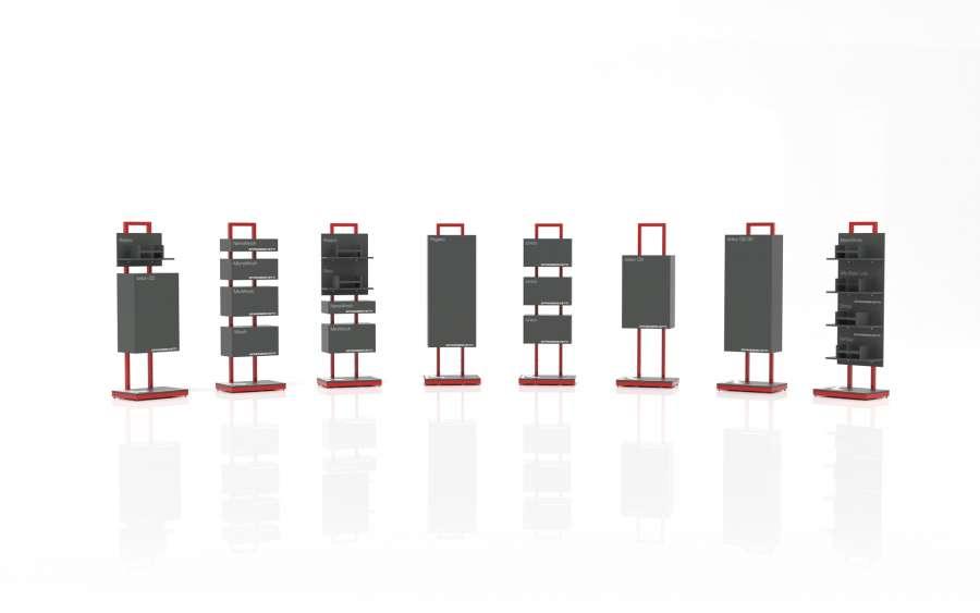Sinergy Lab è composta da espositori modulari e autoportanti