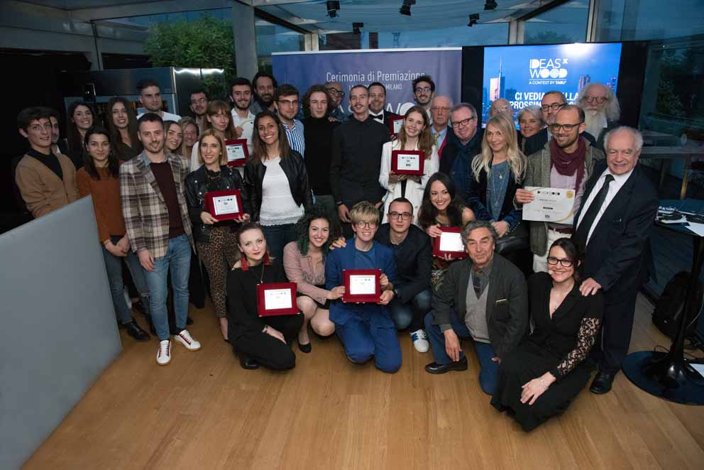 The winners of the first edition of the Contest Tabu IdeasxWood have been awarded