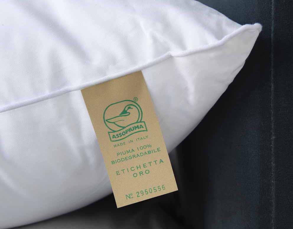 Assopiuma: le nuove etichette piuma/piumino 100% biodegradabile