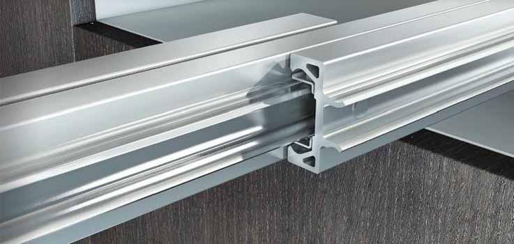 Nuovi meccanismi scorrevoli in alluminio di omge per tavoli a scomparsa - Meccanismi per tavoli allungabili ...