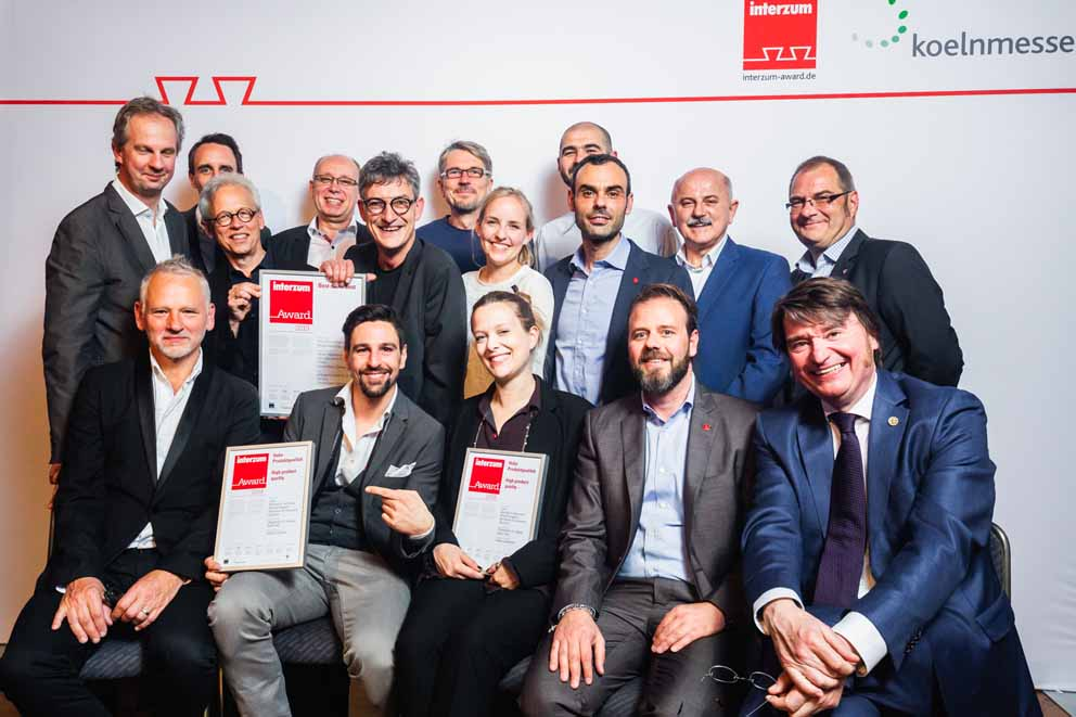 Two By ambigence products win the Interzum Design Award 2019