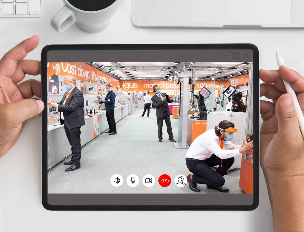 Feria virtual: igus confía completamente en las ventajas de la digitalización