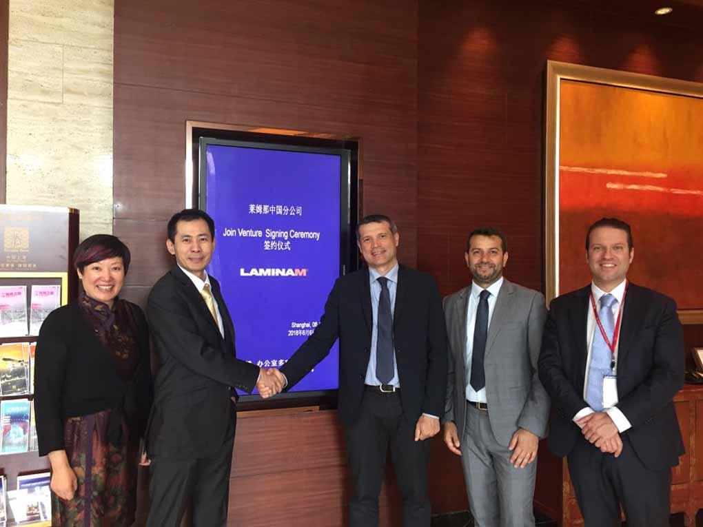 Laminam China est née: la joint-venture est signée avec d'importants entrepreneurs chinois