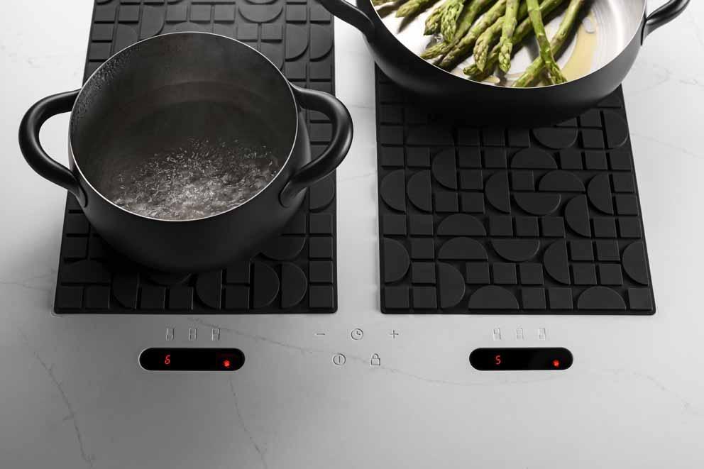 Il piano cottura ad induzione Lapitec Chef: un sistema di cottura completamente nascosto