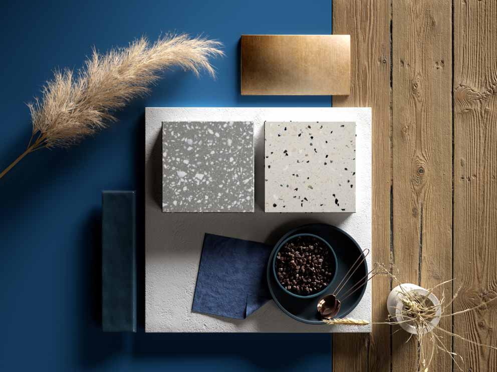 Solid Surface: los nuevos colores del Terrazo propuestos por HI-MACS®.
