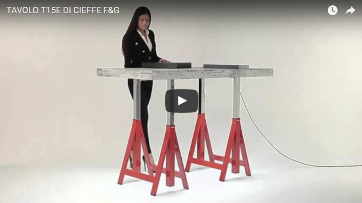 Tavolo T15E di Cieffe F&G