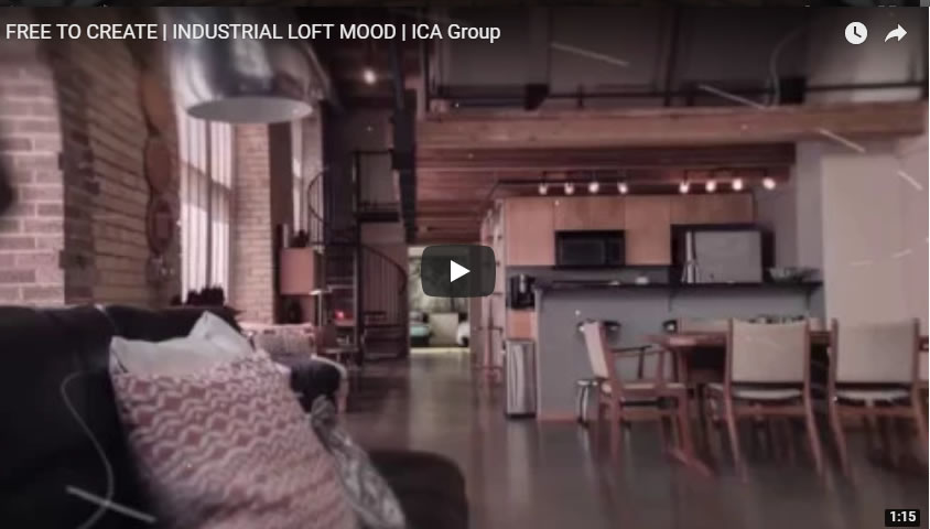 Free to creative industrial loft mood di Ica Group