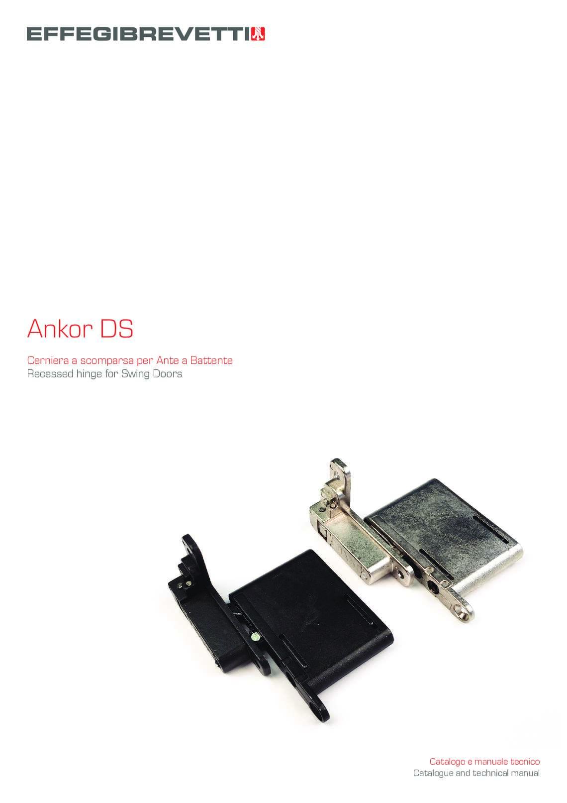 Ankor DS - Cerniera a scomparsa per Ante a Battente