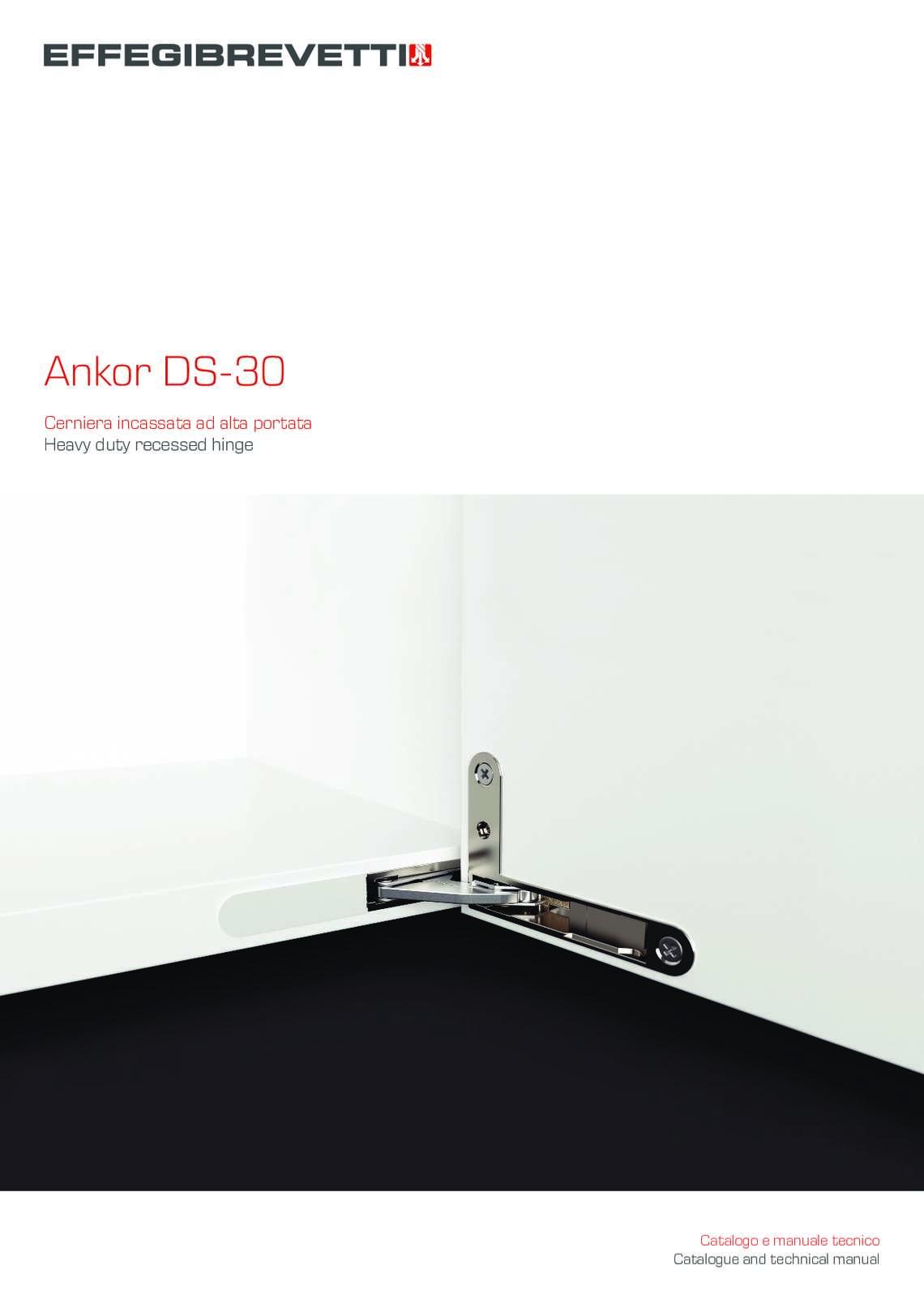 Ankor DS-30 - Cerniera incassata ad alta portata