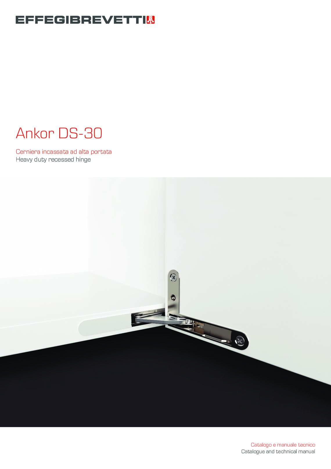 Ankor DS-30 - Heavy duty recessed hinge