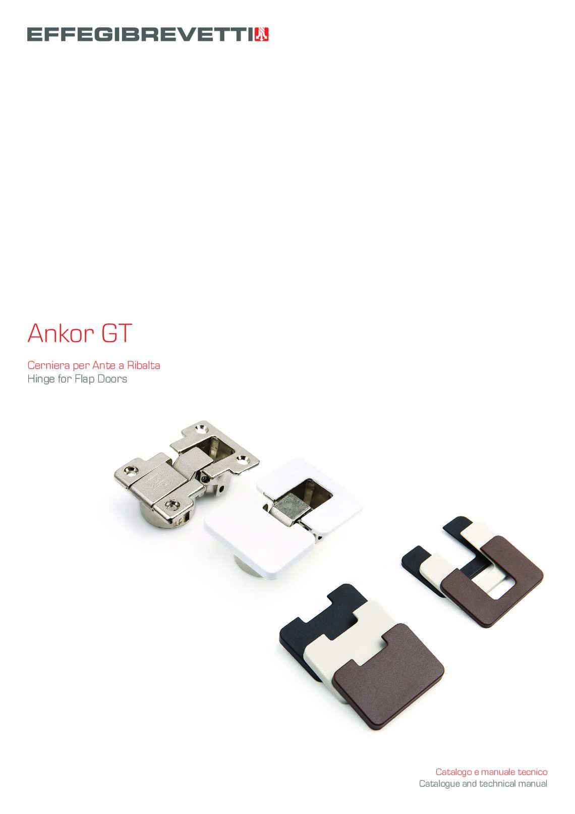 Ankor GT - Cerniera per Ante a Ribalta