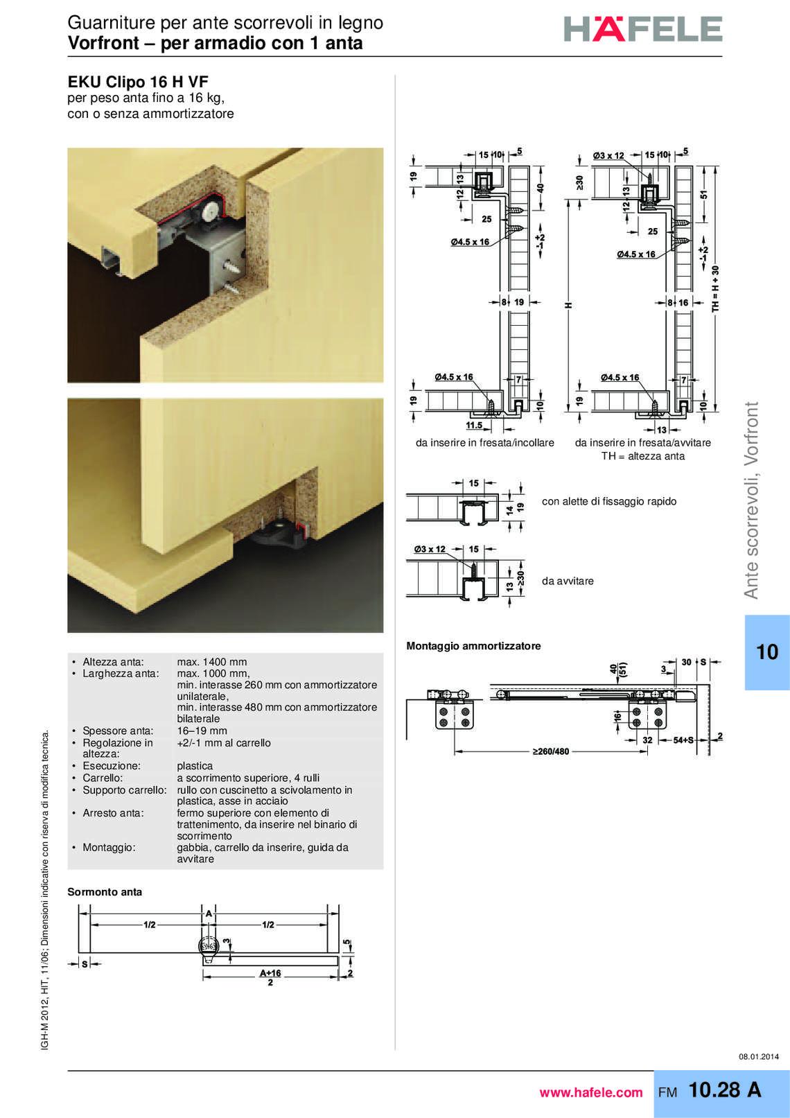 Catalogo hafele ante scorrevoli e serrande di h fele for Catalogo di mobili