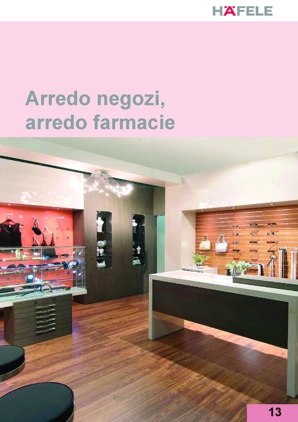 Catalogo hafele arredo negozi e farmacie di h fele italia for Prisma arredo negozi