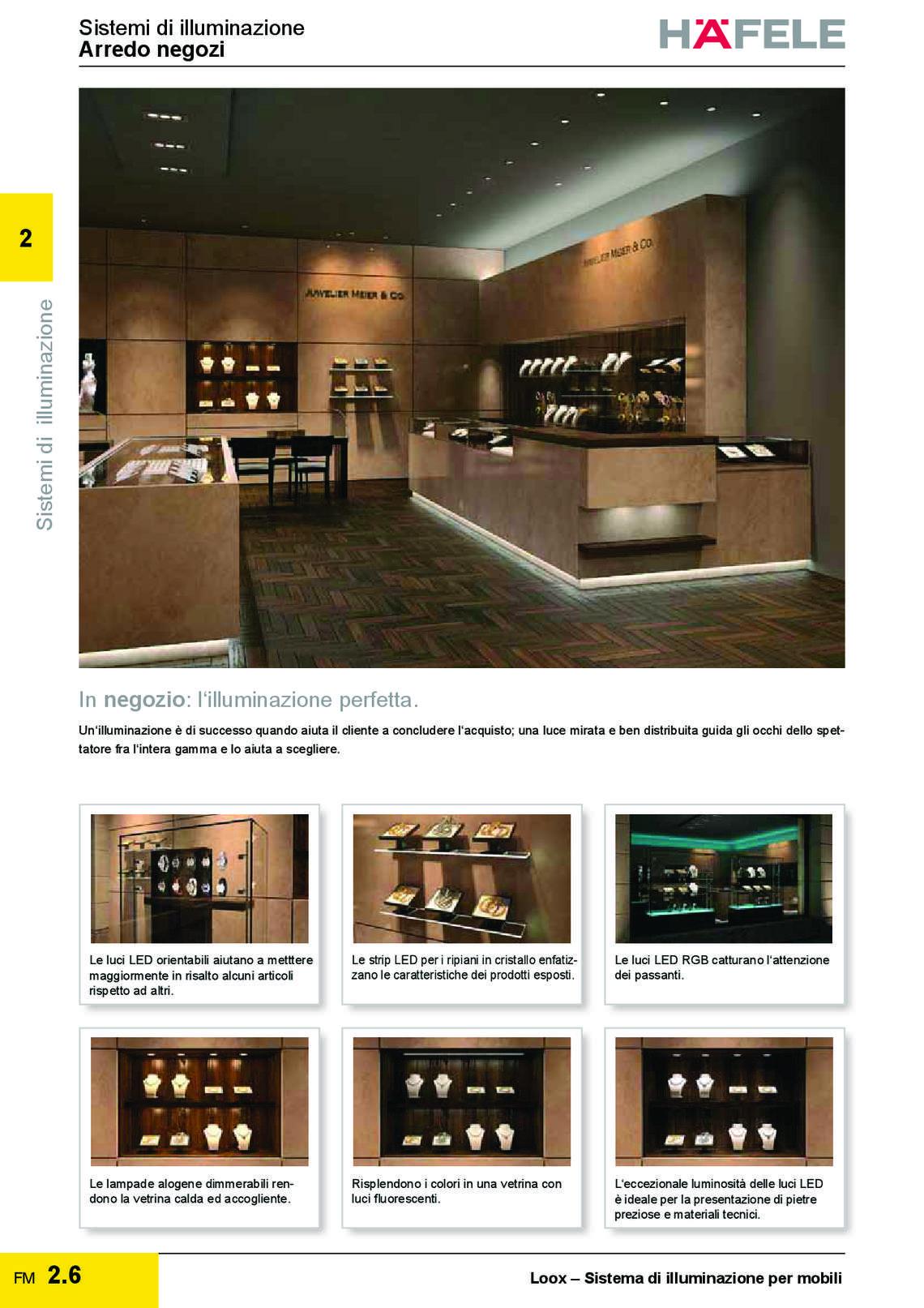 Catalogo hafele sistemi di illuminazione di h fele italia for Sistemi di illuminazione