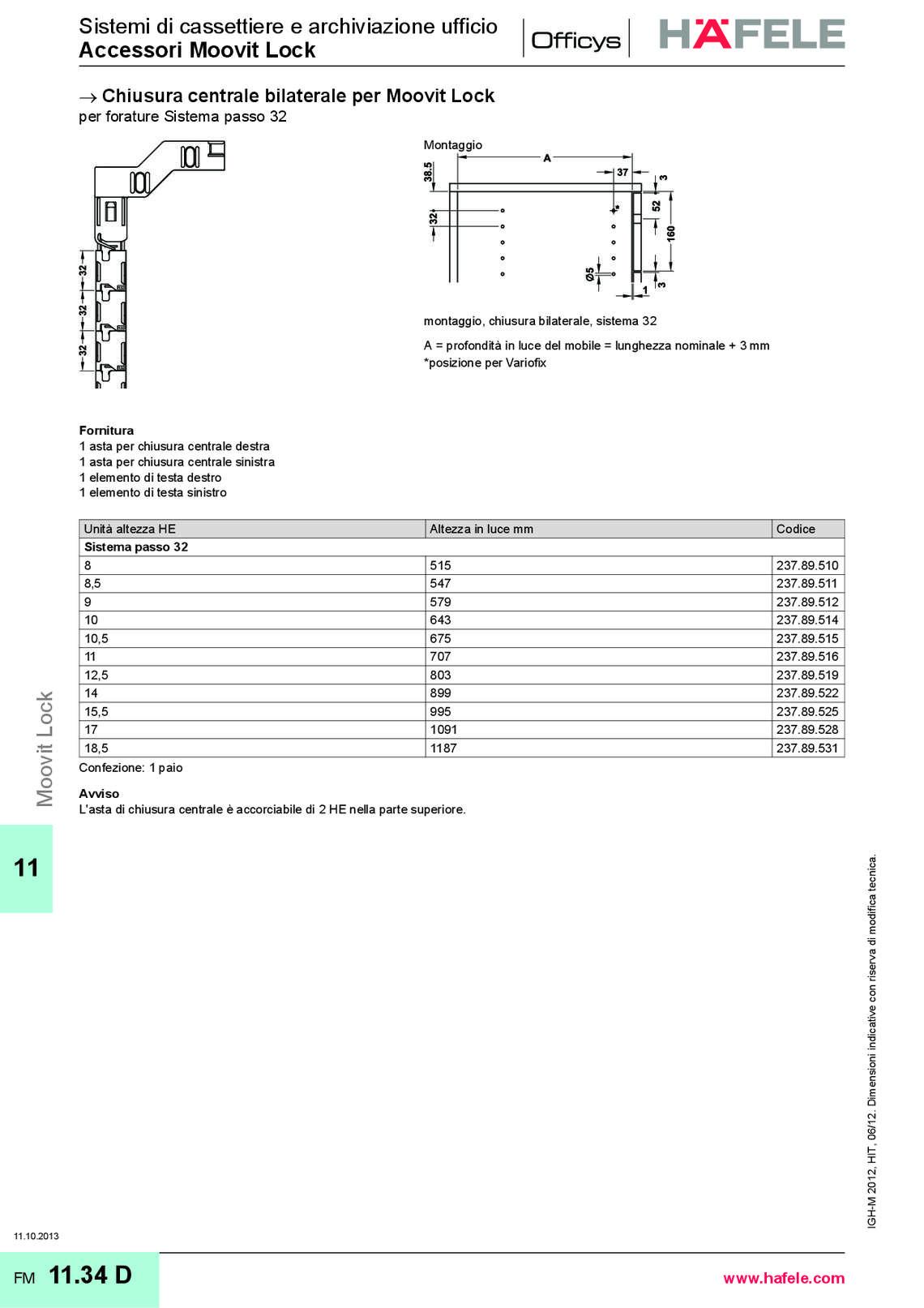 Catalogo hafele sistemi per ufficio di h fele italia for Catalogo di mobili