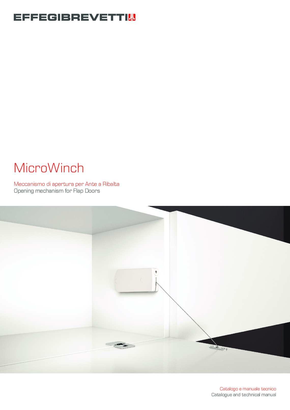 MicroWinch - Meccanismo di apertura per Ante a Ribalta