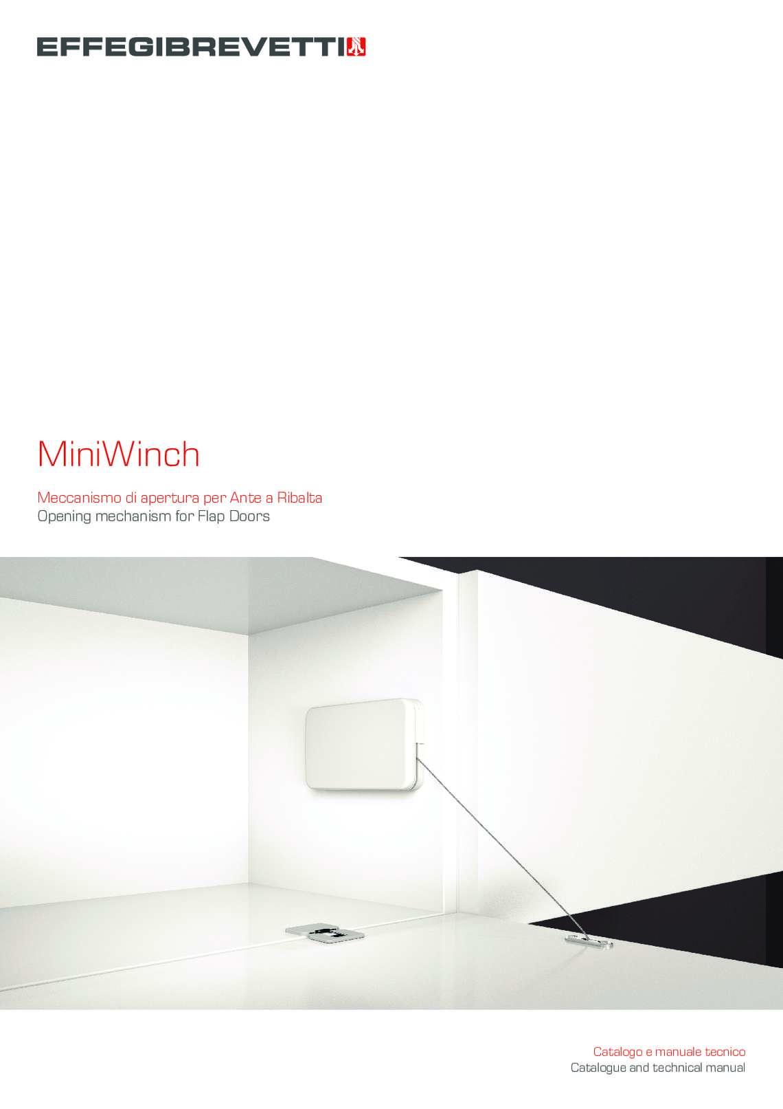 MiniWinch - Meccanismo di apertura per Ante a Ribalta