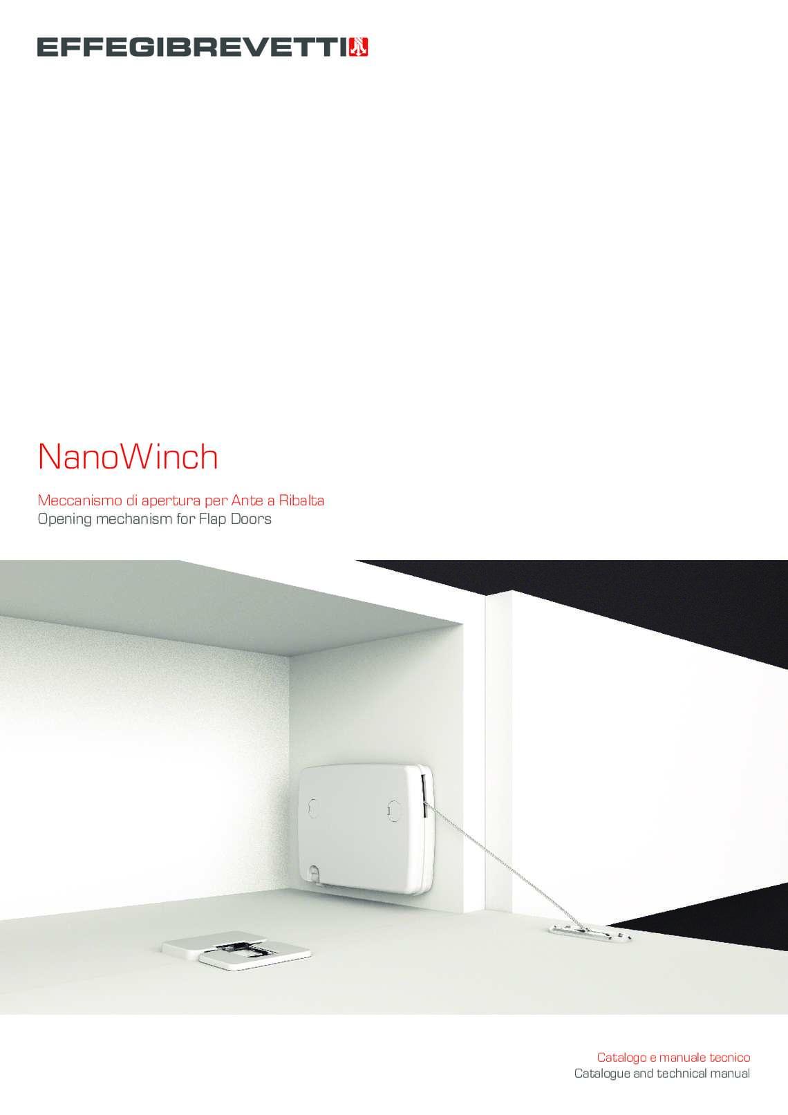 NanoWinch - Meccanismo di apertura per Ante a Ribalta