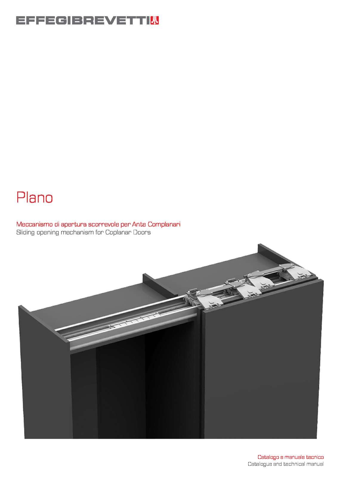Plano - Sliding opening mechanism for Coplanar Doors