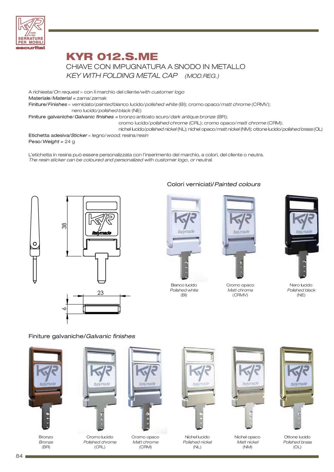 Securital serrature per mobili 86 - Catalogo di mobili ...
