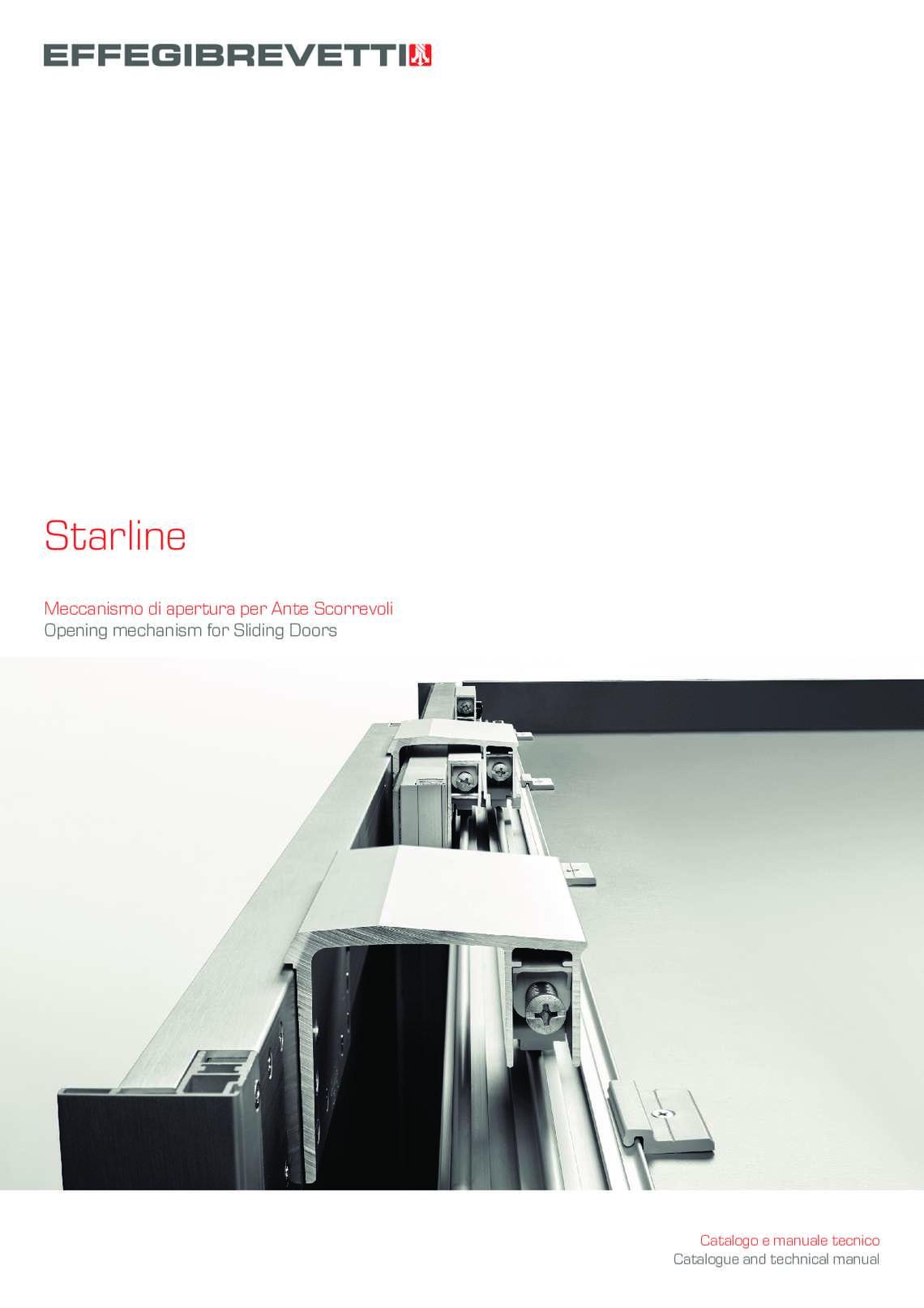 Starline - Meccanismo di apertura per Ante Scorrevoli