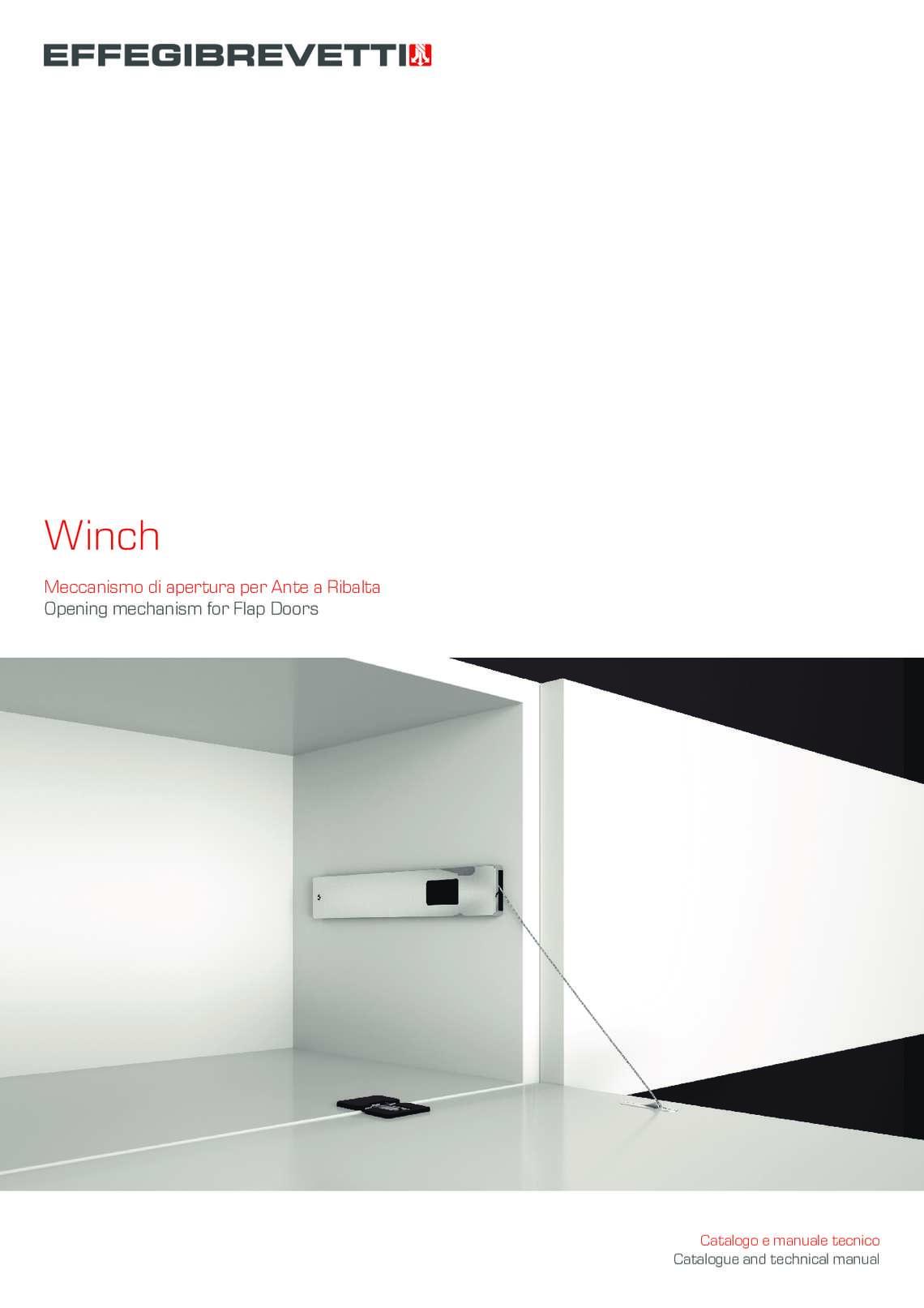 Winch - Meccanismo di apertura per Ante a Ribalta