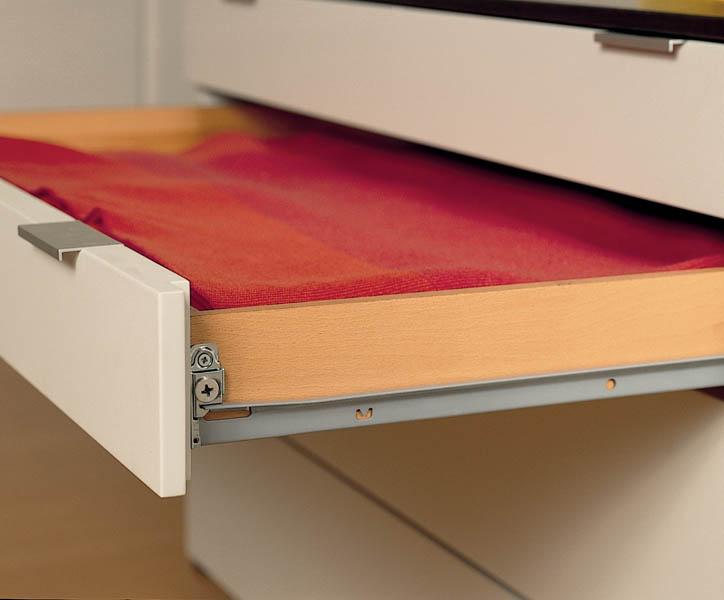 Guide e sponde metalliche per cassetti
