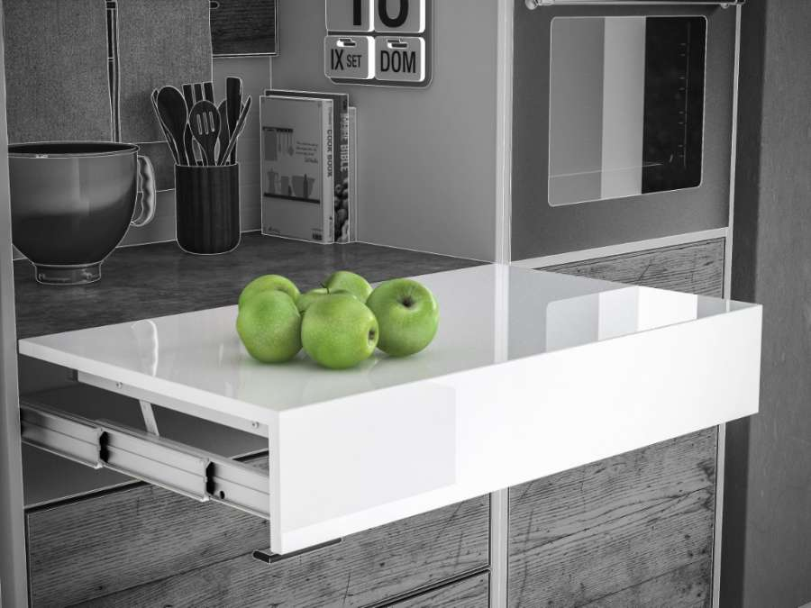 SIMPLY PIANETTO – PULL-OUT SYSTEM FOR WORKTOPS