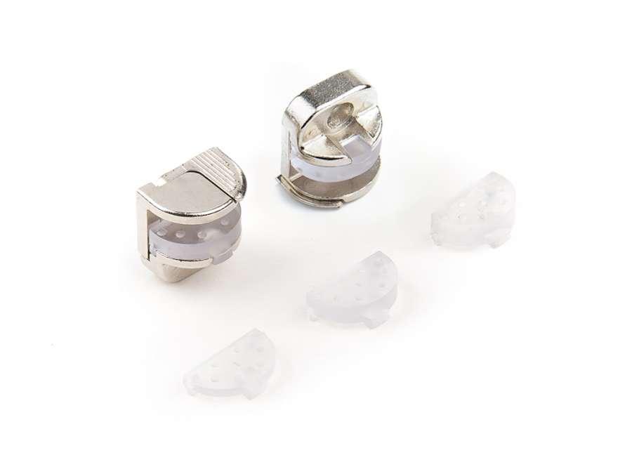 Soportes para paneles de vidrio y cristal con mecanismo Alfa Glass Lock de Effegibrevetti